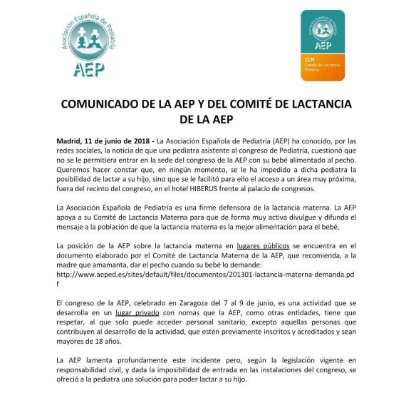 comunicado AEP